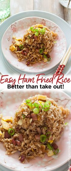 Ham Fried Rice Recipe – The Little Kitchen Dinner Chicken – Dinner Recipes Shrimp And Rice Recipes, Pork Recipes, Asian Recipes, Easy Recipes, Fried Rice Recipe Chinese, Ham Fried Rice Recipe Easy, Chicken Fried Cauliflower Rice, Asian Food Recipes, Healthy Recipes