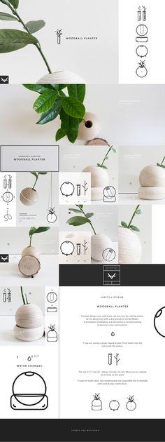 Woodball planter on Behance