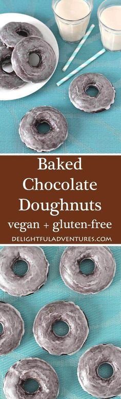 Looking for Vegan Gluten Free Baked Chocolate Doughnuts? Your search has ended. This recipe makes perfectly soft, chocolaty, sweet doughnuts you'll love!