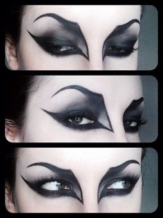 Here's how you need to do your make-up next Halloween ~ will look GREAT with your vampire fangs!!