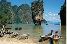 Krabi Phang Nga Bay Sea Canoe Tour booked with Easy Day Thailand. Explore the amazing world of Phang Nga Bay with sea canoeing tours from Krabi and Ao Nang. Places To Travel, Places To See, Travel Destinations, Travel Tips, Holiday Destinations, Travel Books, Tourist Places, Amazing Destinations, Travel Guides