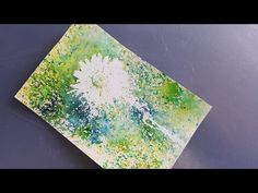 Simple Techniques using Brusho Crystal Colours - YouTube