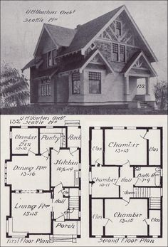 1000 images about vintage house plans 1900s on pinterest for Tudor house plans with photos