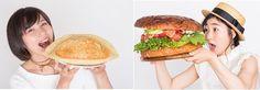 最強にフォトジェニックな新サービス約2kgのメガバーガーと約1kgのメガ餃子開始