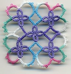 tatted motif 2 from free tatting patterns com tatted in