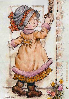 Hobby Noiva E Madrinhas Verde - - - Hobby English Lesson - Sarah Key, Vintage Drawing, Vintage Art, Cute Images, Cute Pictures, Holly Hobbie, Australian Artists, Illustrations, Cute Illustration