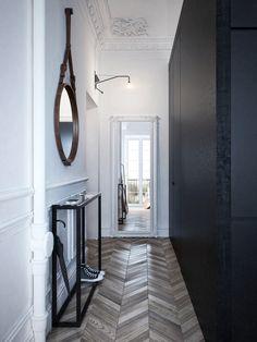 Neoklasično majhno stanovanje by INT2 Architecture