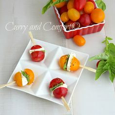 Curry and Comfort: Caprese Salad Bites Appetizer