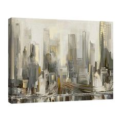 Update your home with the City Lights Canvas Wall Art. Constructed of durable canvas, this abstract city design enhances any living space with an original look. Comes gallery wrapped and ready to hang. Canvas Artwork, Canvas Art Prints, Canvas Wall Art, Gallery Lighting, Abstract City, Lighted Canvas, Urban Sketchers, City Lights, Art Studios