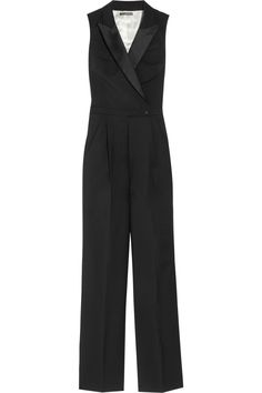 Tuxedo Style Jumpsuit for Women | Home > Lost > Jumpsuits > Lost > Wool and silk-satin tuxedo jumpsuit