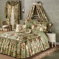 Summerfield Ruffled Flounce Bedspread Bedding - 229.99 - also has matching accessories (like entire room decor)