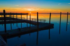 White Bluff Marina Sunset by Andrew Rockwell on 500px   City of Savannah's Coffee Bluff public marina and dock on calm Forest River, #Savannah Georgia USA