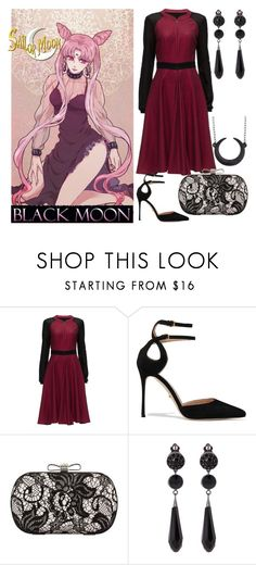 """""""Pretty Soldier Sailor Moon Modern Day: Black Lady"""" by becka-ramey on Polyvore featuring Bandai, Lattori, Sergio Rossi, Chicnova Fashion, Givenchy and modern"""