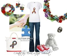 Autism- April is Autism Awareness month!    Featuring Spectrum Necklace, Bracelet, and Earrings and Groovy Ring