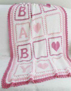 Baby Alphabet Blocks Afghan Pattern  http://www.MaggiesCrochet.com