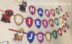 Paw Patrol Banner by CMHandmadeBoutique on Etsy
