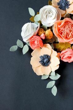 Essayez les fleurs en feutrine - une jolie décoration pour plusieurs cas -  Archzine.fr. Felt FlowersCrafts With FlowersDiy ... c225c0c424d