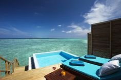 Lagoon Water Bungalow with Pool -   Lavish overwater hideaway.