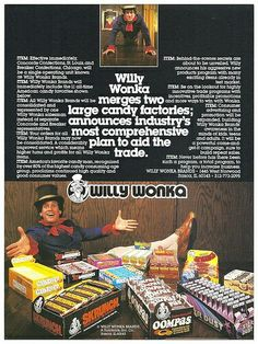Willy Wonka Candy Advertising