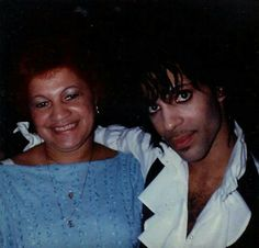 Prince Rogers Nelson and his mother Mattie Shaw