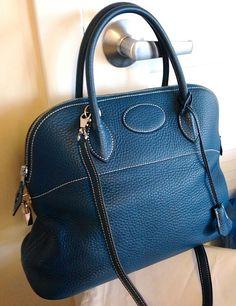 Hermes Bolide 35cm Clemence Blue Thalassa Credit: Roku @ tPF