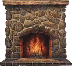 Peel n Stick Fireplace mural.