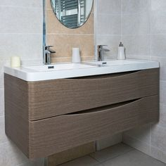 Found it at Wayfair.co.uk - 120cm Wall Mounted Double Basin Vanity Unit