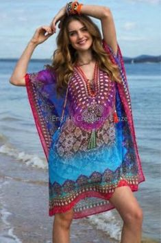 Ruby Yaya Tanzania Caftan, Beach Outfits, Ruby Yaya Tanzania Caftan - from to Girls Maxi Dresses, Beach Dresses, Fashion Dresses, Beachwear Fashion, Bikini Fashion, Women's Summer Fashion, Boho Fashion, Womens Fashion, Hippie Style