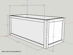 This plywood storage box is easy to build from just ONE sheet of plywood and it's perfect for storing firewood, board games, blankets and pillows, or decor. Plywood Storage, Plywood Boxes, Toy Storage Bins, Storage Boxes With Lids, Plywood Sheets, Storage Spaces, Furniture Projects, Diy Furniture, Diy Projects