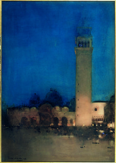 Arthur Melville (Scottish 1858-1904), The Blue Night, Venice, 1897. Watercolour and gouache on board, 86.4 x 61 cm. Tate.
