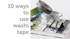 10 Ways to use Washi Tape - Shari Carroll for Simon Says Stamp Washi Tape Uses, Washi Tape Cards, Creative Wall Decor, Simon Says Stamp Blog, Gelli Arts, Gelli Printing, Art Journal Techniques, Paper Cards, Card Tutorials