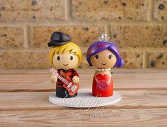 Kurt Cobain and Courtney Love wedding cake topper by GenefyPlayground  https://www.facebook.com/genefyplayground