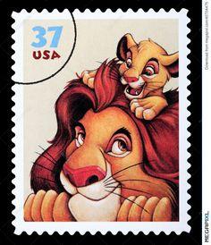 Lion King Disney Postage Stamp