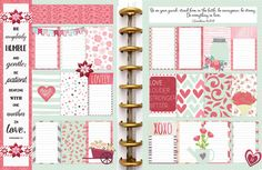 Love Printable Planner Kit in Pink & Green by DigiScrapDelights #plannerlove #planneraddict #pink #green #love #plannerstickers #hearts