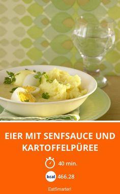 Eier mit Senfsauce und Kartoffelpüree - smarter - Kalorien: 466.28 kcal - Zeit: 40 Min. | eatsmarter.de