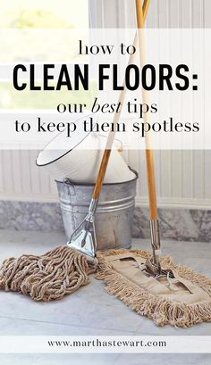 How to Clean Floors: Our Best Tips to Keep Them Spotless | Martha Stewart Living - If you lug your turbo-charged vacuum or trusty mop-and-bucket combo out of the closet only once a week, you're not alone. According to a recent survey by Bissel, 32 percent of Americans wait at least one week to clean their floors. But thanks to some handy tools and a troubleshooting approach, you can keep yours spotless throughout the week without having to deploy the heavy artillery.