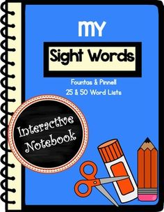 This interactive notebook provides a variety of ways for your students to practice their sight words. No more loose papers! Your students will have all their sight word work together in one place as a handy reference.  Easy to cut, glue and arrange on the page this notebook is designed with young learners in mind.