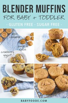 These healthy blender muffin recipes are beyond moist and tender, taste amazing, and maybe most importantly, they're super easy to make! It takes just five minutes of prep to make these healthy mini muffins, and your kids will go wild for them! Baby Muffins, Toddler Muffins, Mini Muffins, Muffins For Toddlers, Muffins For Babies, Healthy Muffins For Kids, Muffin Recipes, Baby Food Recipes, Gourmet Recipes