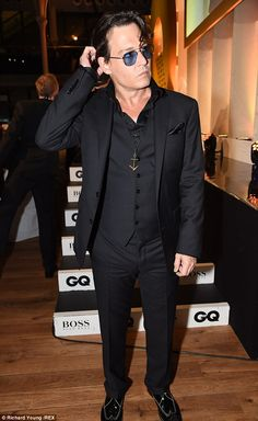 Johnny Depp at the GQ Men of the Year Awards. #suits