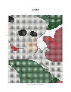 free cross stitch pattern large snowman