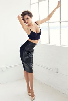 Skirt on Miranda Kerr photographed by Chris Colls for Who