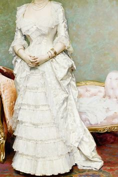 "cybertronian: ""INCREDIBLE DRESSES IN ART (34/∞) Before the Ball by Federico de Madrazo, 1881 """