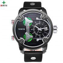 f25b7a4ae71 2017 new luxury brand north Men s Sports Watches reloj hombre Leather  Outdoor Waterproof Quartz Men Watch relogio masculino