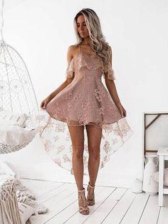 Halter Backless Gold Applique Sparkly Tight Homecoing Dresses 2018, CM436 – SposaDresses