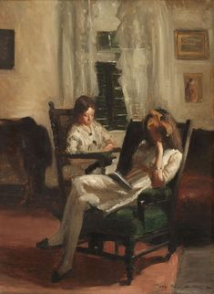 Interior by Guy Pène du Bois Pène du Bois was a painter and a writer who helped to publicize the Armory Show. This quiet domestic scene was a departure from his usual satirical subjects.