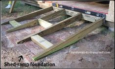 Custom Treated Lumber Handicap Ramp And Railings For The