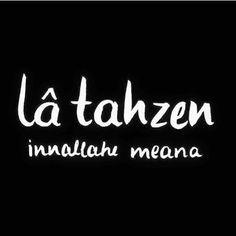 Allah bizimle. #üzülme #latahzen