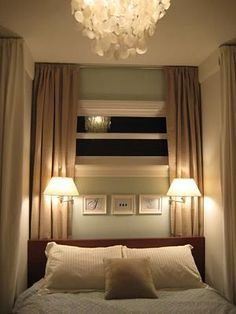 Add romantic ambiance for ur bedroom with swing arm lamps :-)