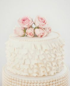 Who doesn't love ruffles....or roses....or cake!