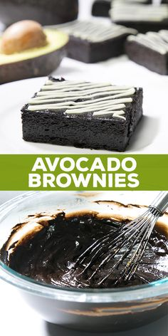 These fudgy avocado brownies are actually good for you. So easy to make, they're gluten free, and guilt-free, too. No butter at all. brownies Healthy Avocado Brownies are gluten free and guilt free! Avocado Brownies, Protein Brownies, Bean Brownies, Best Gluten Free Recipes, Gluten Free Sweets, Gluten Free Baking, Gf Recipes, Easy Gluten Free Cookies, German Recipes